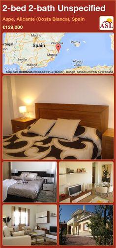 Unspecified for Sale in Aspe, Alicante (Costa Blanca), Spain with 2 bedrooms, 2 bathrooms - A Spanish Life Murcia, Alicante, Aspen, Valencia, Main Entrance, Private Garden, Mediterranean Style, Detached House, Bunk Beds