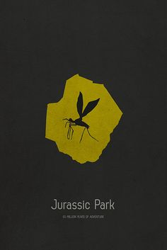 Jurassic Park ~ Minimal Movie Poster by Tamas Horvath Minimal Movie Posters, Cool Posters, Film Posters, Jurassic Park 1993, Jurassic Park World, Michael Crichton, Science Fiction, Thriller, Tree Illustration
