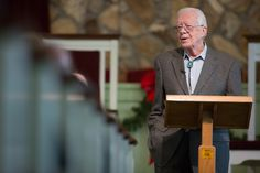 The newspaper said Carter, who two weeks ago said he is now cancer-free, appeared at the Maranatha Baptist Church to teach his regular Sunday school class and told church members that his grandson had died a few hours before.  The 91-year-old former president told the church Jeremy Carter had felt unwell
