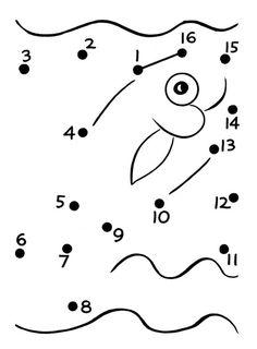 fish activities for preschool | ... Free Printable Easy Dot-to-Dot Activity Sheets : Easy Pre-K activity 1 Předškolní Aktivity, Pracovní Listy Pro Školky, Matematická Centra