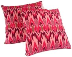 Pillow Pink Pillow Chevron Ikat by ginette1223 on Etsy, $40.00