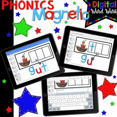 These digital magnetic letters slide to form words. Student can then type sentences or the word. These cover vowel teams, blends, diphthongs, short vowels, CVCe words, ending blends, and digraphs! Covers over 871 words and all a teacher needs to do is assign the student the file in Google Classroom! Technology is so engaging for many students!
