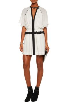 Shop on-sale Isabel Marant Retra pleated cotton-crepe mini dress. Browse other discount designer Dresses & more on The Most Fashionable Fashion Outlet, THE OUTNET.COM
