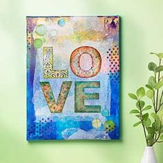 Love Letter Canvas Mixed Media Creation