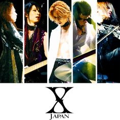 I ❤ X Japan! My ultimate favorite band. Seriously love them, they bring out all kinds of emotions from me. So so glad I came across their music and also glad they're still continuing today. Pata, Heath,  Yoshiki♡, Toshi, Sugizo, Hide(RIP) and Taiji(RIP). Love you all.♡