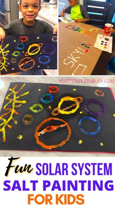 Awesome Solar System Salt Painting for Kids