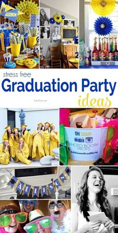 Stress Free Graduation Party ideas at TidyMom.net #graduation #partyideas