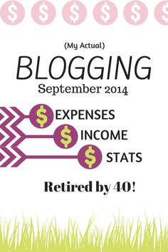 Because I believe that transparency not only frees - it encourages and inspires - I am posting my ACTUAL blogging income each month, as well as my traffic, stats, and expenses!  Come check it out! http://www.retiredby40blog.com/2014/10/03/traffic-income-report-september-2014-actua-blogging-income/