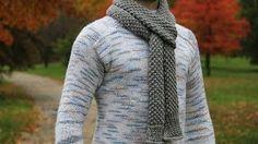 loom knitting mans scarf patterns - YouTube