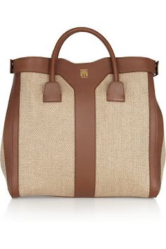 YSL Linen & Leather Tote. Yes, Please.  dressologyhq.blogspot.com