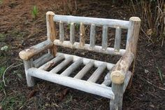 Woodsy Wonders Props & More — Newborn Prop Bench - Spindle Wood Backing and Seat