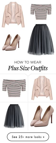 """""""tulle skirt"""" by meant2bead on Polyvore featuring Chicwish, WithChic, Topshop and Zizzi"""