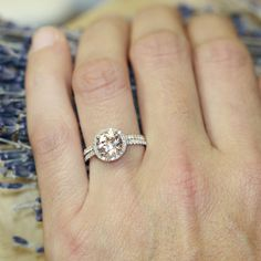 14k Rose Gold Half Eternity Diamond Wedding Band by LaMoreDesign