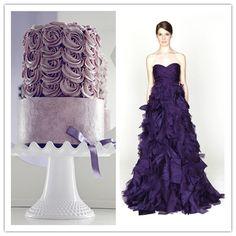 violet mariage gateau robe de soiree joyeuxmariage