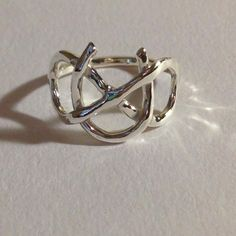 Infinity Symbol Ring Sterling Silver Infinity Ring, Sterling silver horse shoe ring by EllynBlueJewelry on Etsy