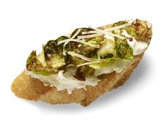 Ricotta-Brussels Sprouts Crostini