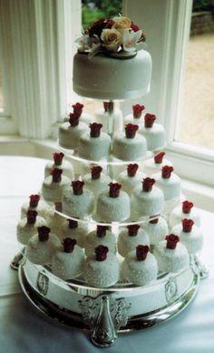 Romantic cupcake wedding