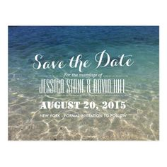 Summer Tropical Beach Wedding Save The Date Postcard Dates Theme