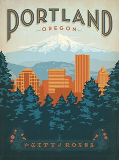 A groovy Portland travel poster from the Anderson Design Group. I live in the city and soon… soon I shall own the poster.