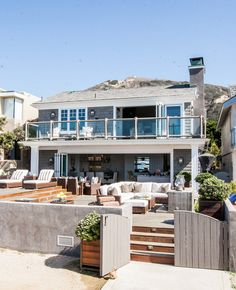 Beach House. California beach house with coastal interiors. #BeachHouse