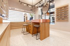 The Alfa Vision eyewear store in Masarykova Street in Zagreb posed a challenge to achieving maximum functionality within a small space. By applying an innovative approach to product display and using wooden and copper decorative elements, our team has created a welcoming and functional retail space that exudes warmth. Retail Concepts, Product Display, Retail Space, Retail Design, Small Spaces, Eyewear, Challenge, Copper, Street