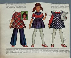 "1973 Vintage Betsy McCall 'Writes a Letter"" Paper Doll"