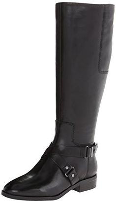 Nine West Women's Blogger Wide Calf Harness Boot,Black,10 M US