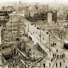 Liverpool Blitz North John Street My Mum told me how Liverpool was so badly bombed during WW2 - a prime target for the German planes.My memories of being a Baby Boomer in the 1950`s are full of wasteland and bomb craters as a playground