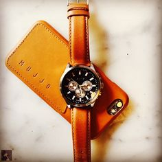 #Mujjo leather wallet case & @nautica watch - By @danielisir - Available at mujjo.com