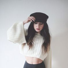 Ally in the Nasty Gal Bells Out Crop Sweater || Get the sweater: http://www.nastygal.com/product/nasty-gal-bells-out-crop-sweater?utm_source=pinterest&utm_medium=smm&utm_term=ngdib&utm_content=nasty_gals_do_it_better&utm_campaign=pinterest_nastygal