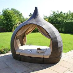 Beach Club Day Bed. Like a Private Hotel Lounge for your backyard!
