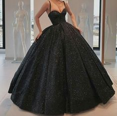 Black Glitter Ball Gown Prom Dresses Corset Back Long Formal Party Dress · KProm · Online Store Powered by Storenvy Ball Gowns Evening, Ball Gowns Prom, Evening Dresses, Black Ball Gowns, Black Evening Gowns, Summer Dresses, Sequin Evening Gowns, Evening Party, Elegant Prom Dresses