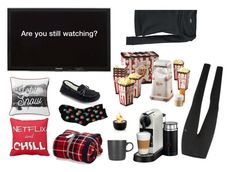 """""""Homebody stuff"""" by yfantjie ❤ liked on Polyvore featuring Puma, SONOMA Goods for Life, HOT SOX, Le Creuset, Nespresso, Lexington, blomus and cozychic"""