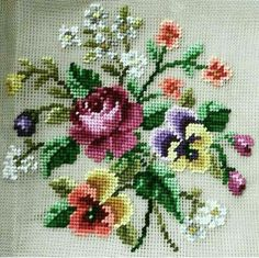 Embroidery set Vervaco 70323 Vase of Sweet Williams Cross Stitch Pillow, Cross Stitch Needles, Cross Stitch Rose, Cross Stitch Flowers, Cross Stitch Charts, Cross Stitch Designs, Cross Stitch Patterns, Cross Stitching, Cross Stitch Embroidery