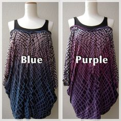 sexy wave top -color Blue and purple-