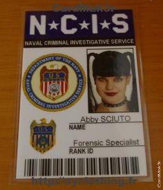 PAULA'S...Abby Sciuto - NCIS ID Card
