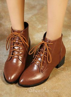 Brown Pointed Toe Flat Boots