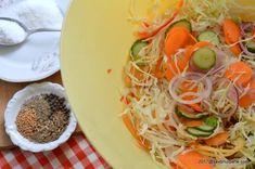 Salata de muraturi reteta de ciolomada ungureasca | Savori Urbane Spaghetti, Ethnic Recipes, Food, Canning, Salads, Essen, Meals, Yemek, Noodle