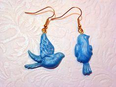 Blue Bird Easter Earrings