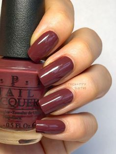 OPI's Scores a Goal is a beautifully rich plum brown. It will keep you looking classy and sophisticated all the way to spring.