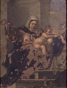 Simone Cantarini, ambiente di - Madonna con Bambino - 1650-1660 - Accademia Carrara di Bergamo Pinacoteca