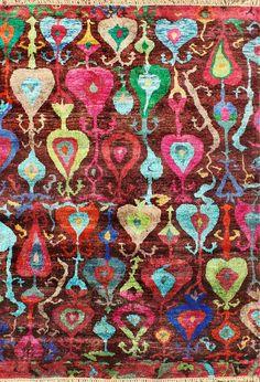 Rusgville Sari Silk Multi Colors Rug