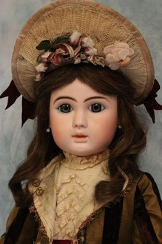 """26"""" Closed Mouth c.1887 Antique French Bisque marked Figure A Bebe Steiner Doll 