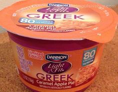 So delicious!!! Dannon Limited Edition Light & Fit Greek Caramel Apple Pie Yogurt