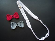 Crochet headband baby custom headband fashion baby by NikitasStore #nikitasstore #headband #crochet #bow #baby #accessories #fashion