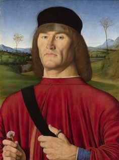Andrea Solario: Man with a PinkFlower (1495)