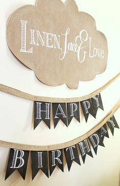 Tiny Prints Birthday Party Decor DIY: Blog Post and Live Video on the Tinyprints Blog