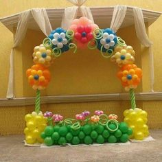 Image result for pinterest balloon flower arch