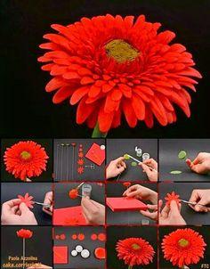 DIY - THE BEST IDEAS AROUND THE WORLD: Gerbera Daisy Picture Tutorial