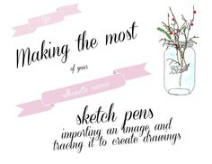 silhoutte sketch projects | silhouette sketch pens tutorial